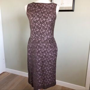 Isaac Mizrahi for target brown and pink lace small